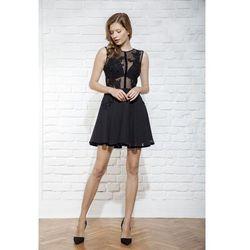 Sukienka z koronki i szyfonuv
