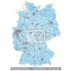 Naklejka Mapa Niemiec