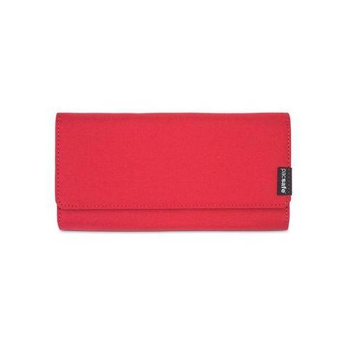 9755c8479fab5 Portfel damski kopertowy z ochroną kart Pacsafe RFIDsafe LX200 Chili -  Czerwony