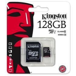 karta pamięci Kingston microSDXC 128GB class 10 UHS-I + adapter SD