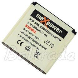 Bateria maXpower do Nokia N73/9300/3250 Li-ion 1200mAh (BP-6M)