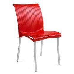 Krzesło kawiarniane Nardi Regina czerwone