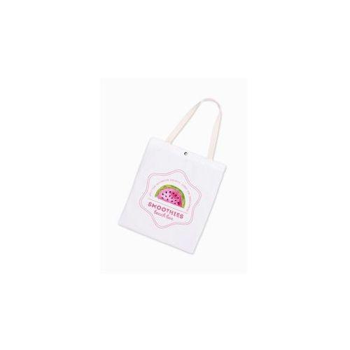 20c747e0340be Biała torba materiałowa z nadrukiem na ramię Smoothies BLR161 ...