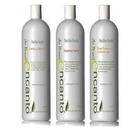 Encanto do Brasil Zestaw do keratynowego prostowania włosów 3 x 100 ml
