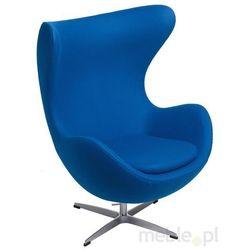 Fotel Jajo w kolorze niebieskim