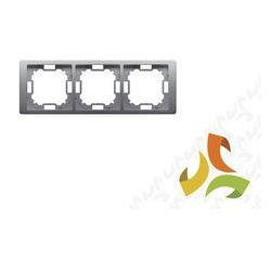 Ramka 3, 3-krotna uniwersalna poziom i pion, stal inox BASIC NEOS KONTAKT SIMON