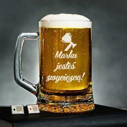 Jesteś zwycięzcą - Personalizowany Kufel - Kufel do piwa