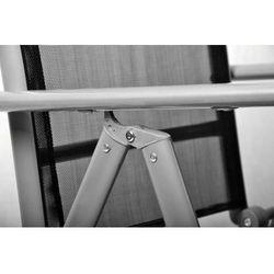 Rovens.pl Krzesła składane aluminiowe - Zestaw krzeseł ogrodowych czarne