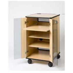 Liesegang szafka projekcyjna Basic ze szklanymi drzwiami i drzwiami rewizyjnymi - szary