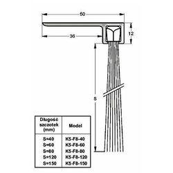 Listwa progowa STRIBO F8-120 1 mb