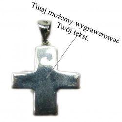 Srebrny krzyż z możliwością grawerowania dedykacji, życzeń...