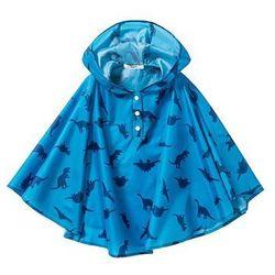 Poncho przeciwdeszczowe bonprix niebieski capri z nadrukiem