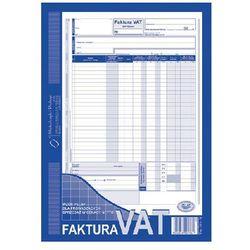 Faktura VAT-wzór pełny dla prowadzących sprzedaż w cenach netto A4 oryginał + kopia