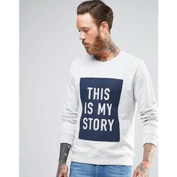 Lee Crew Sweatshirt This Is My Story - Grey