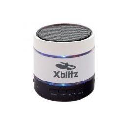 Przenośne głośniki bluetooth z mikrofonem i odtwarzaczem MP3 Xblitz Illuminated HD białe