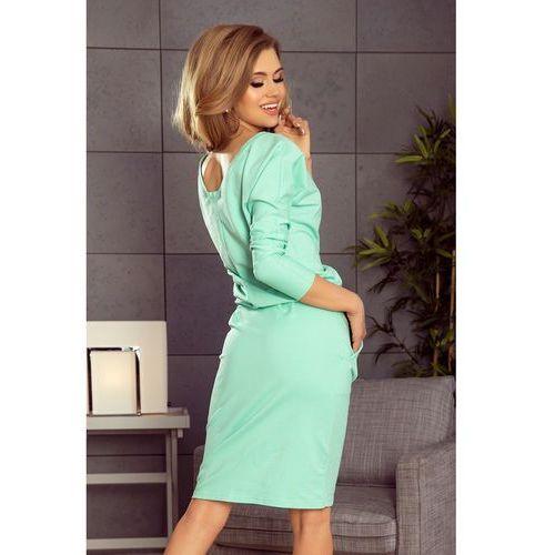 27ecf17de3 189-1 Sukienka dresowa z dekoltem na plecach - MIĘTOWA XL - porównaj ...