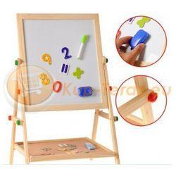 Tablica Dwustronna Kredowa Magnetyczna Ścieralna dla Dzieci + Magnesy