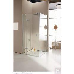 Enjoy Huppe elegance 4-kąt ścianka boczna do drzwi skrzydłowych ze stałym segmentem do montażu na wannie Wykonanie na wymiar - 3T1682087322