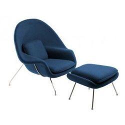 Fotel Snug z podnóżkiem inspirowany Womb Chair