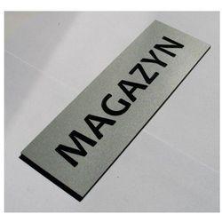 Tabliczki informacyjne na drzwi z aluminium 15x5cm srebro