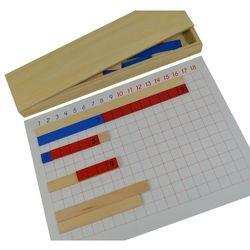 Tablica do odejmowania z listewkami - pomoce Montessori