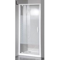 ETERNO drzwi prysznicowe do wnęki 80cm szkło BRICK GE7680