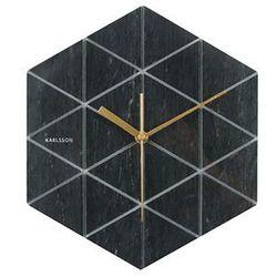 Zegar ścienny Marble Hexagon black by Karlsson