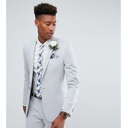 7bf89eb7bed1e ASOS TALL Wedding Skinny Suit Jacket in Ice Grey Cross Hatch with Printed  Lining - Grey. ASOS. Asortyment marynarka męska