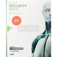 Oprogramowanie antywirusowe ESET Security Pack BOX -3 Stan/36M +3 Smartfony/36M - ESP-K-3Y-3D
