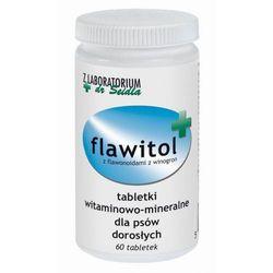 FLAWITOL dla psów dorosłych Preparat witaminowo-mineralny z flawonoidami z winogron 60 tab - 60 tabletek