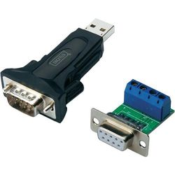 Przejściówka, adapter USB 2.0, Digitus DA-70157, [1x Złącze męskie RS485 - 1x Złącze męskie USB 2.0 A], Biały, proste