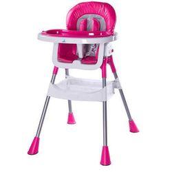 Krzesełko do karmienia Pop różowe
