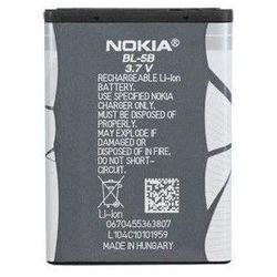 Oryginalna bateria BL-5B - 890 mAh - Nokia N80 5140 6020 7360 Opakowanie Bulk Produkcja: 2015