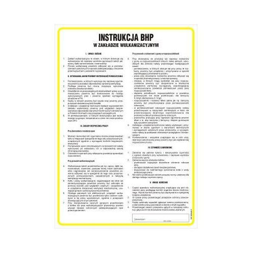 Instrukcja BHP w zakładzie wulkanizacyjnym