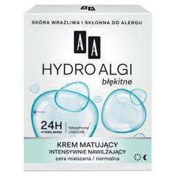 AA Hydro Algi Błękitne (W) krem matujący intensywnie nawilżający cera mieszana/normalna 50ml