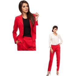 Zestaw Taliowany krótki żakiet i spodnie chino czerwone