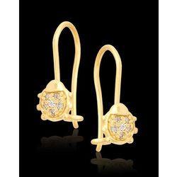 Złote Biedronki kolczyki z cyrkoniami