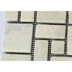 Mozaika marmurowa divero 1m ? kremowa, mozaika kamienna