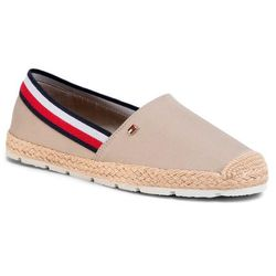 Espadryle TOMMY HILFIGER - Basic Tommy Corporate Espadrille FW0FW04738 Stone AEP