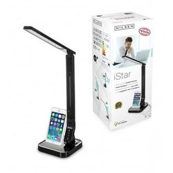 Lampka biurkowa iSTAR LED czarna + gadzet iPhone - Czarny