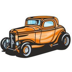 Naklejka kolorowa samochód 108
