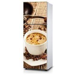 Naklejka na lodówkę - Czas na kawę - Naklejka laminowana