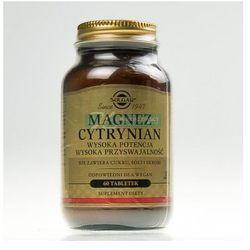 SOLGAR Magnez cytrynian 60 tabletek