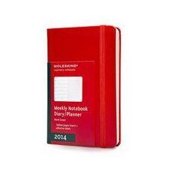 Kalendarz 2014 mały Moleskine książkowy tygodniowy czerwony