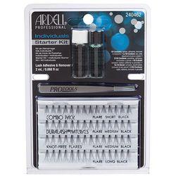 Rzęsy i akcesoria Individuals zestaw 56 kępek rzęs Black + Lash Adhesive klej do rzęs 2ml + Lash Remover zmywacz 2ml + Pro Tools pęseta