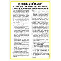 Instrukcja ogólna BHP w czasie zajęć wychowania fizycznego, sportu i turystyki w szkołach i placówkach publicznych