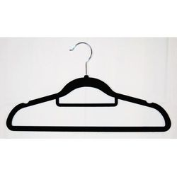Wieszak odzieżowy - welurowy, czarny