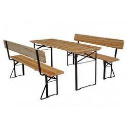 Zestaw piwny, grillowy stół + ławki z oparciem