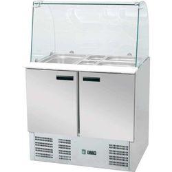 Stół chłodniczy sałatkowy znadstawą szklaną, poj. 240 lEKO