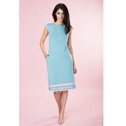 Sukienka pastelowa w paski